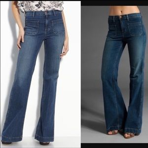 J Brand Bette Flare Wide Leg Jeans Size 25